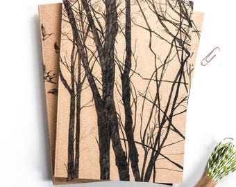 Sketchbook/Jotter - Through the Trees