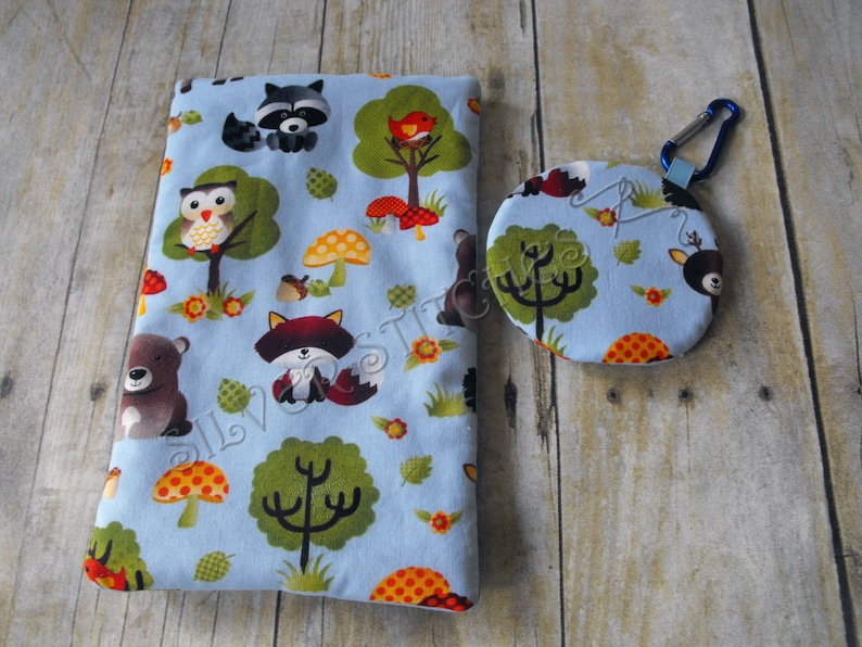 Diaper Bag Accessories Baby Gift Set Forest Animals Pacifier Pod and Wipes Case Set