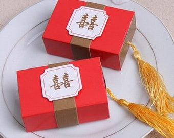 Double happiness box etsy set of 25 double happiness favor box chinese wedding favors red gold gift favour candy box bridal shower diy do it yourself solutioingenieria Choice Image