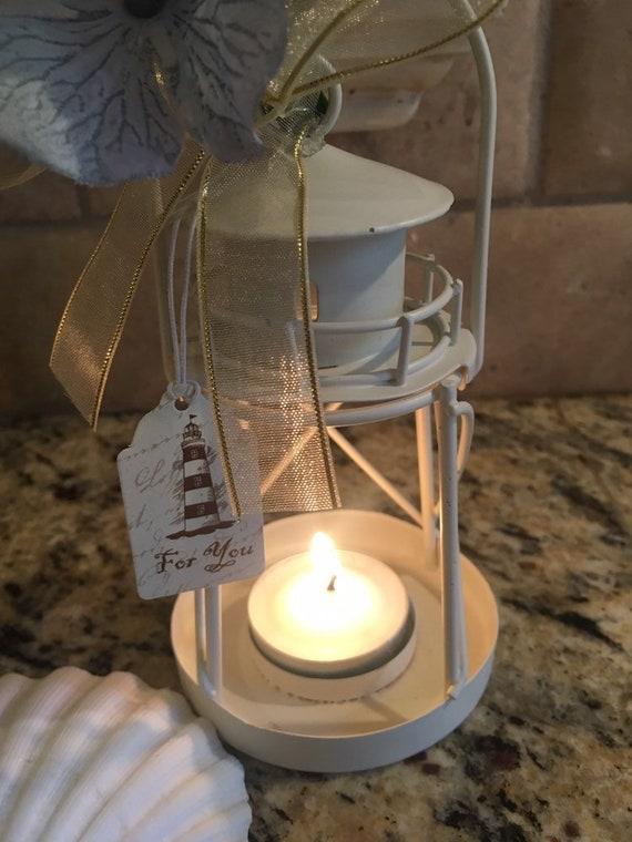 Set Of 12 Candle Lighthouse Lanterns Cream Wedding Etsy