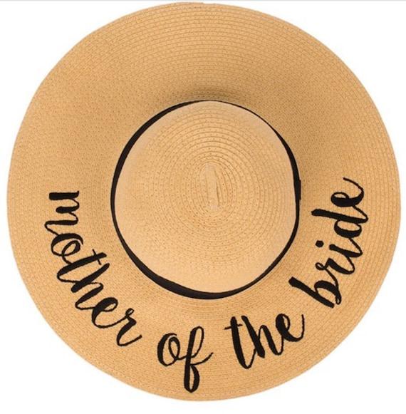 6 Hats Bride Bride Tribe sun hat Personalized bridesmaid  3839ae1f908