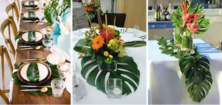 Ideas For The Tropical Themed Wedding: 12 Palm Leaf Decorations Luau Tropical Party Beach Theme