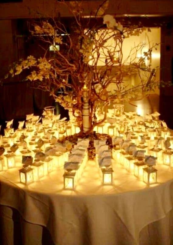 Set of 12 decorated candle mini lanterns black cream glass   Etsy