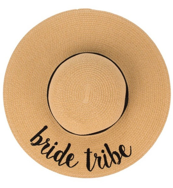 Bride Tribe sun hat Personalized bridesmaid gift wedding  38ae0097397