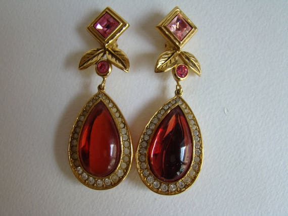 Jean Louis Scherrer huge Earrings
