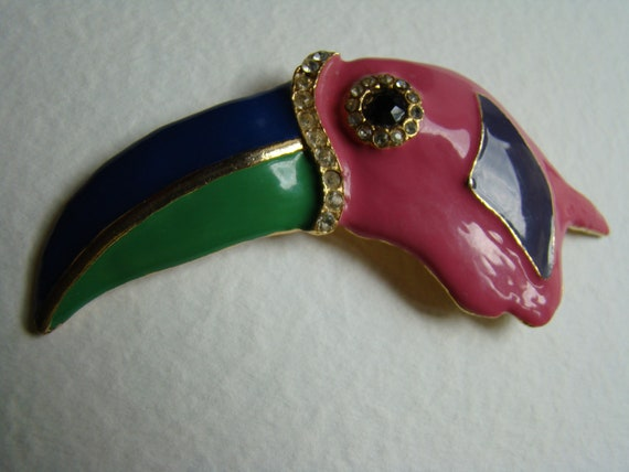 Louis Feraud toucan brooch