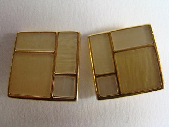 YSL Yves Saint Laurent Mondrian period earrings