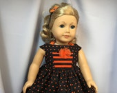 18 Inch Doll Clothes Halloween Dress with Petticoat and Headband for dolls like American
