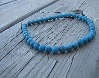 Ankle Bracelet- Turquoise Stone