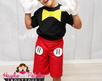 Boys Mickey Mouse Costume-mickey mouse outfit - mickey Birthday -Baby Boys-mickey mouse 1st Birthday- disney Costume-Halloween- size 0-5t  sc 1 st  Etsy & Mickey mouse costume | Etsy