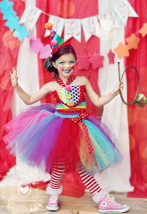 Mädchen Zirkus Kostüm Mädchen Clown Kostüm Karneval | Etsy