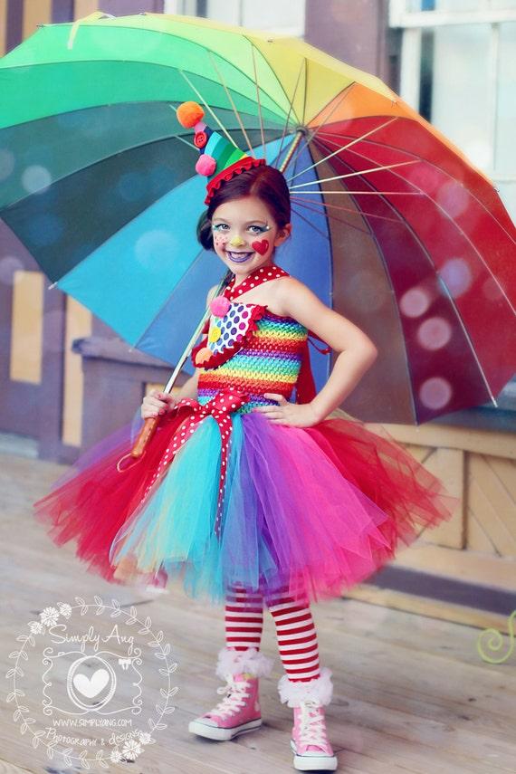 Girls Circus Tutu Dress Clown Costume Circus Costume Clown | Etsy