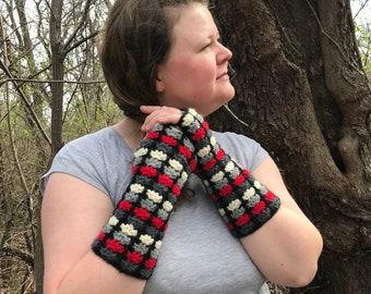 Crochet Pattern for Gauntlets or Fingerless Gloves - PDF File