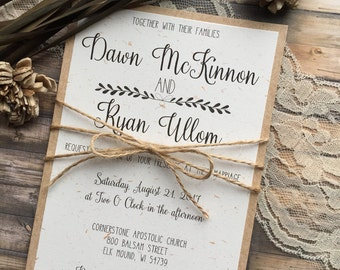 Wedding invitations etsy rustic wedding invitation vintage wedding invitation elegant wedding invitations whimsical wedding invitations barn wedding invitation stopboris