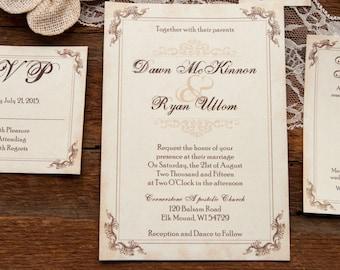 Western Wedding Invitations Etsy