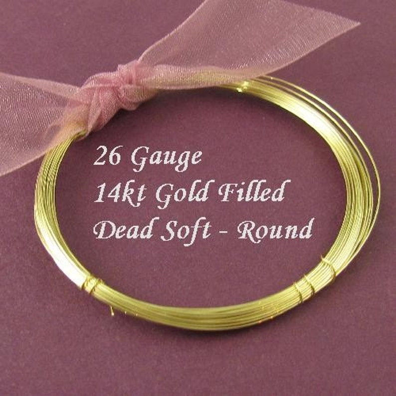 DS26GF10 4 Pearls Briolettes Gems Beads  Oakhill Silver Supply 26 Gauge  Gold Filled Wire Dead Soft  Round  10 Ft Thin Jewelry Wire