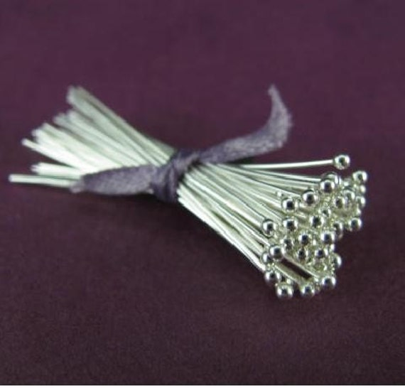 Sterling Silver .925 Headpin Choose Package Size 25 2 Inch 22 Gauge