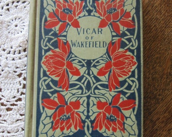 "Antique Book Vicar of Wakefield by Oliver Goldsmith W B Conkey Company 6"" x 4.25"""
