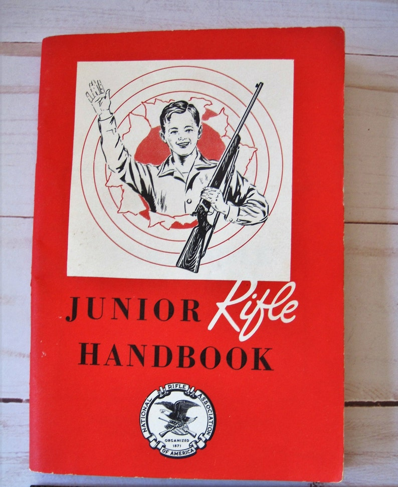 Vintage Junior Rifle Handbook 1960 Booklet