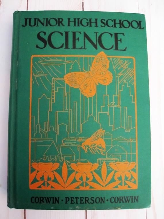 Junior High School Science Book 1937 Corwin Peterson Corwin Etsy