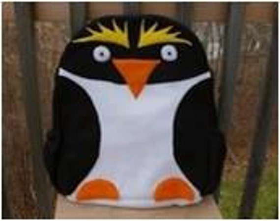 Macaroni Penguin Backpack Etsy