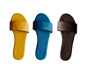 Leather Sandals Summer Shoes Flat Huaraches Sandals Beach Party