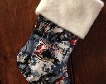 Captain America Christmas Stocking