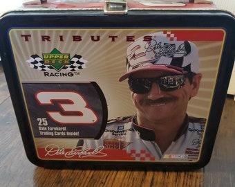 Vintage Dale Earnhardt Sr Metal Lunch Box Nascar No Cards Upper Deck 2000