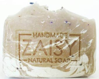 French Lavender and Honey Soap, Handmade Soap, Sweet Almond Soap, Flower Petals, Floral Soap, Swirled Artisan Soap