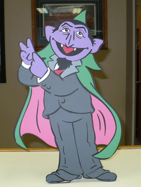Sesame Street Count Von Count Decoration 1 5 Foot Tall Stand Up Standee Sesame Street Party Prop Sesame Street Decor