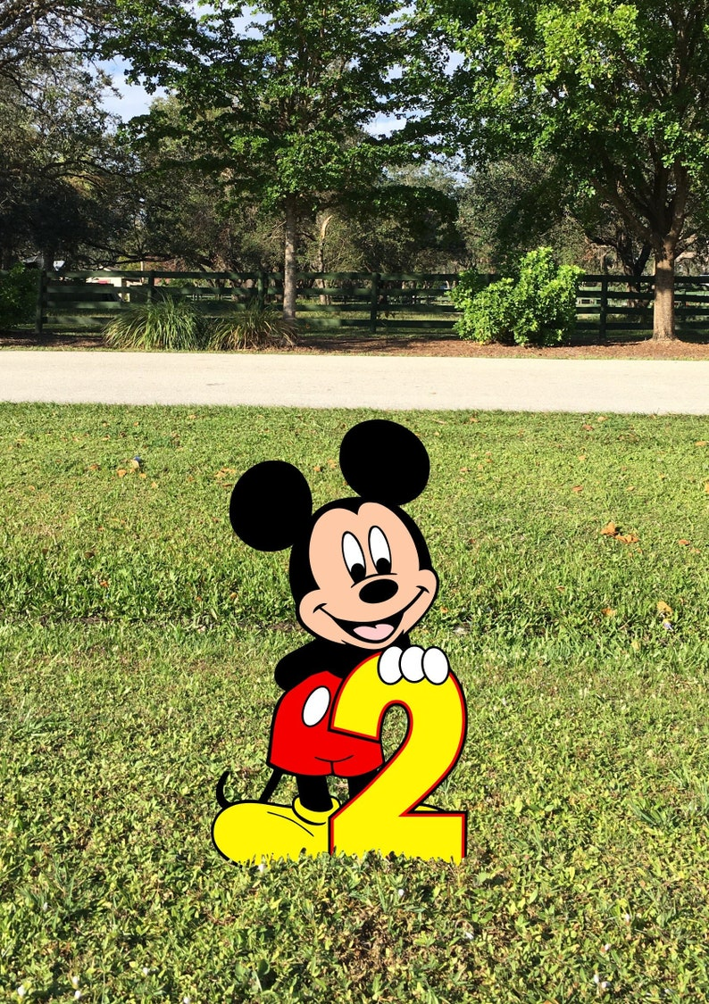 Mickey Mouse 2nd Birthday Photo Prop