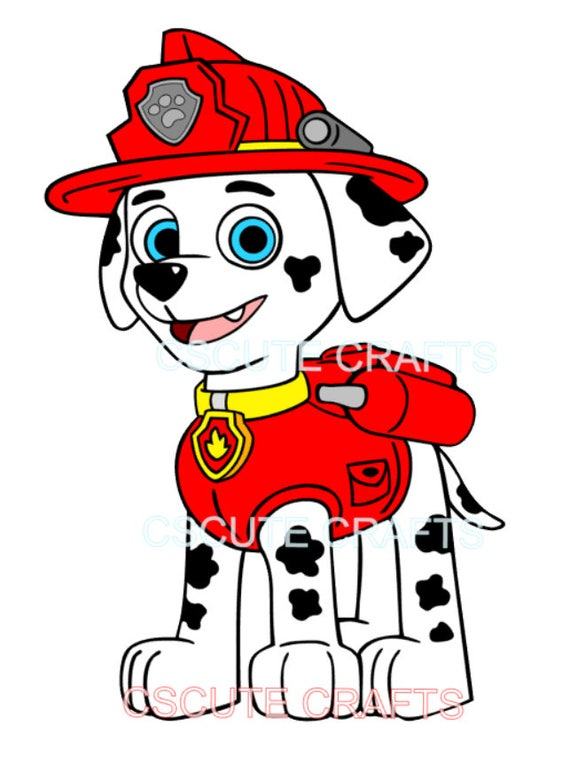 Marshall Paw Patrol Svg Download Paw Patrol Svg Cutting File Etsy
