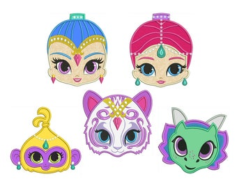 tala cat shimmer and shine machine applique embroidery etsy