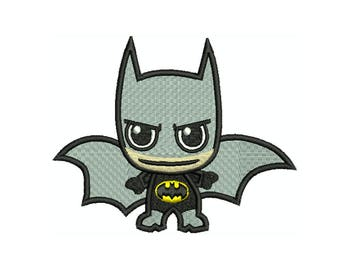 BATMAN BABY Machine Filled Embroidery - Instant Digital Download