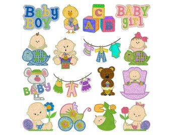 BABY - Machine Applique Embroidery - Instant Digital Download