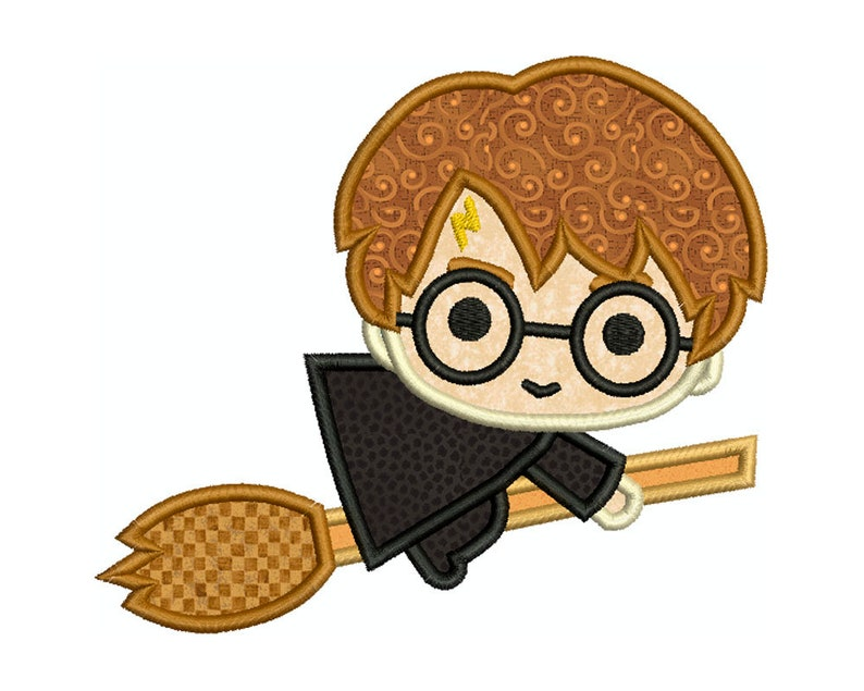 Harry potter machine applique embroidery instant digital etsy