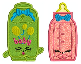 Shopkins, BABY 14 - Machine Applique Embroidery - 2 Patterns in 3 Sizes - Instant Digital Download