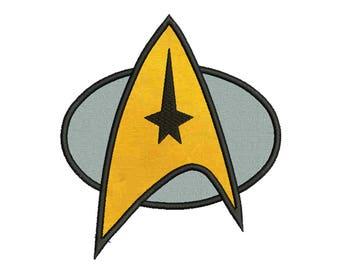 star trek logo etsy rh etsy com star trek insignia vector star trek emblem vector