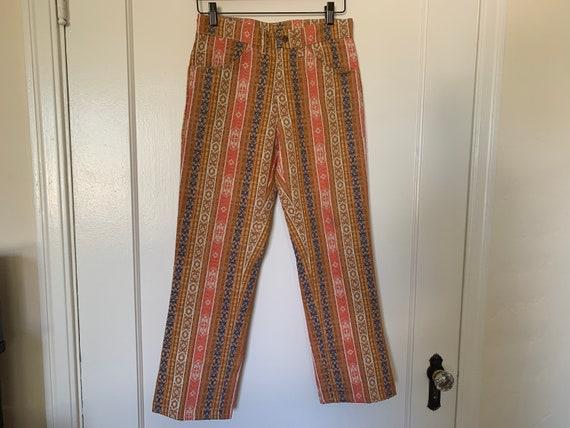 Vintage 70s Tapestry Jean Pants