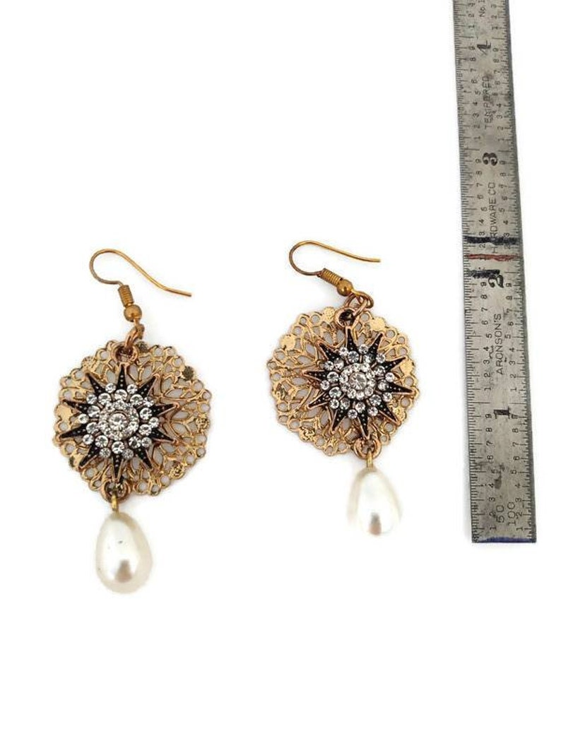 Crystal Star Dangle Earrings