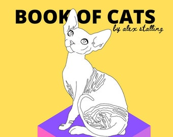 Book of cats colouring in pages