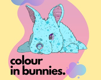 Colour in bunnies
