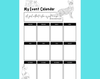 12 month event planner calendar