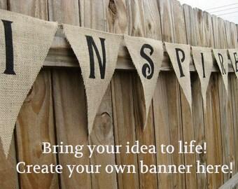 Custom Banner, Custom Burlap Banner, Personalized Burlap Banner, Burlap Banner, Custom Name Banner, Personalized Photo Prop, Custom Bunting