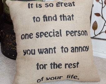 Wedding Gift Pillow, Wedding Pillow, Bridal Shower Gift, Bridal Gift, Burlap Pillow, Funny Wedding Gift, Bridal Pillows, Wedding Gift