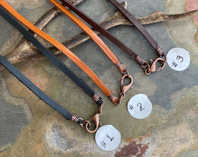 Deerskin Lace Leather in Copper,Wire Wrapped Deerskin Lace 3 mm Width,Black,Brown and Tan Leather 1/8 Inch width,Made in USA,Pendant Leather