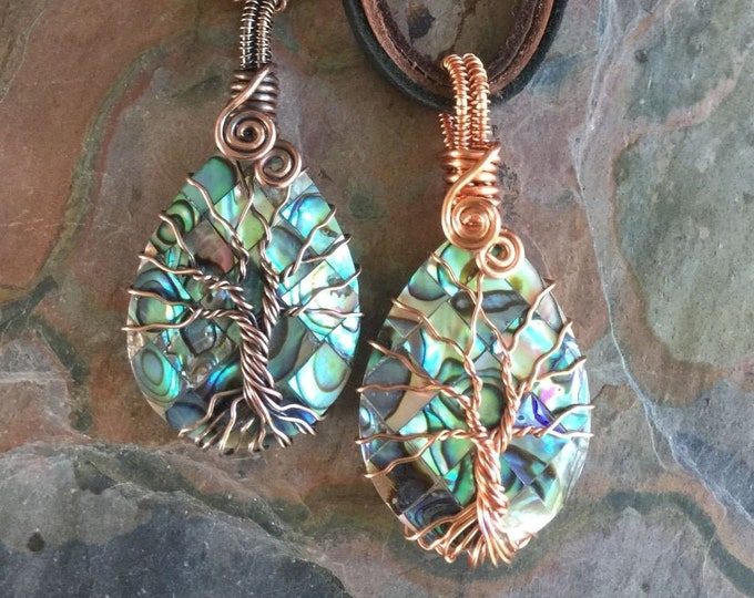 Abalone Tree of Life Necklace,Wire Wrapped Abalone Necklace,Abalone Jewelry, Abalone Necklace,Abalone Necklace,October Birthstone Tree