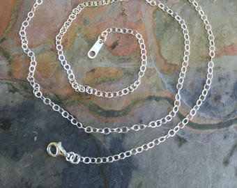 Sterling Silver Chain, Sterling silver flat cable chain,Choose the Length, Necklace Chain for the Pendant,