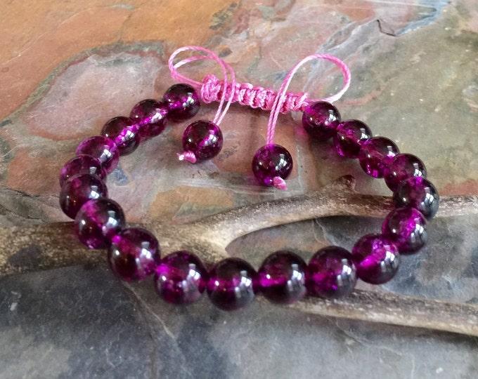 Tourmaline Bracelet,Pink Tourmaline Bracelet Tourmaline Adjustable Bracelet, Pink tourmaline Macrame adjustable bracelet, Gemstone bracelet