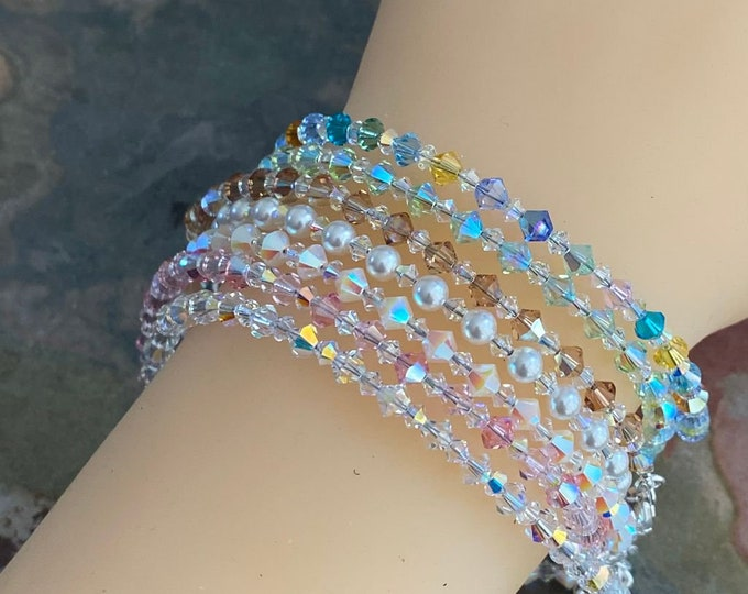 Swarovski Crystal Anklet/Bracelet, Swarovski Crystal Bracelets in  Sterling Silver, Crystal Bracelet, Crystal Anklets, Bridal Bracelet